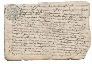 INCREDIBLE-1706-LOUIS-XIV-royal-notary-signed-manuscript-document-Authentic