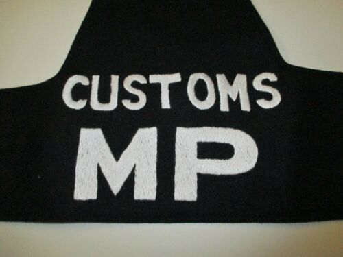 b3488 Vietnam era Armband Customs MP Military Police wool IR8T
