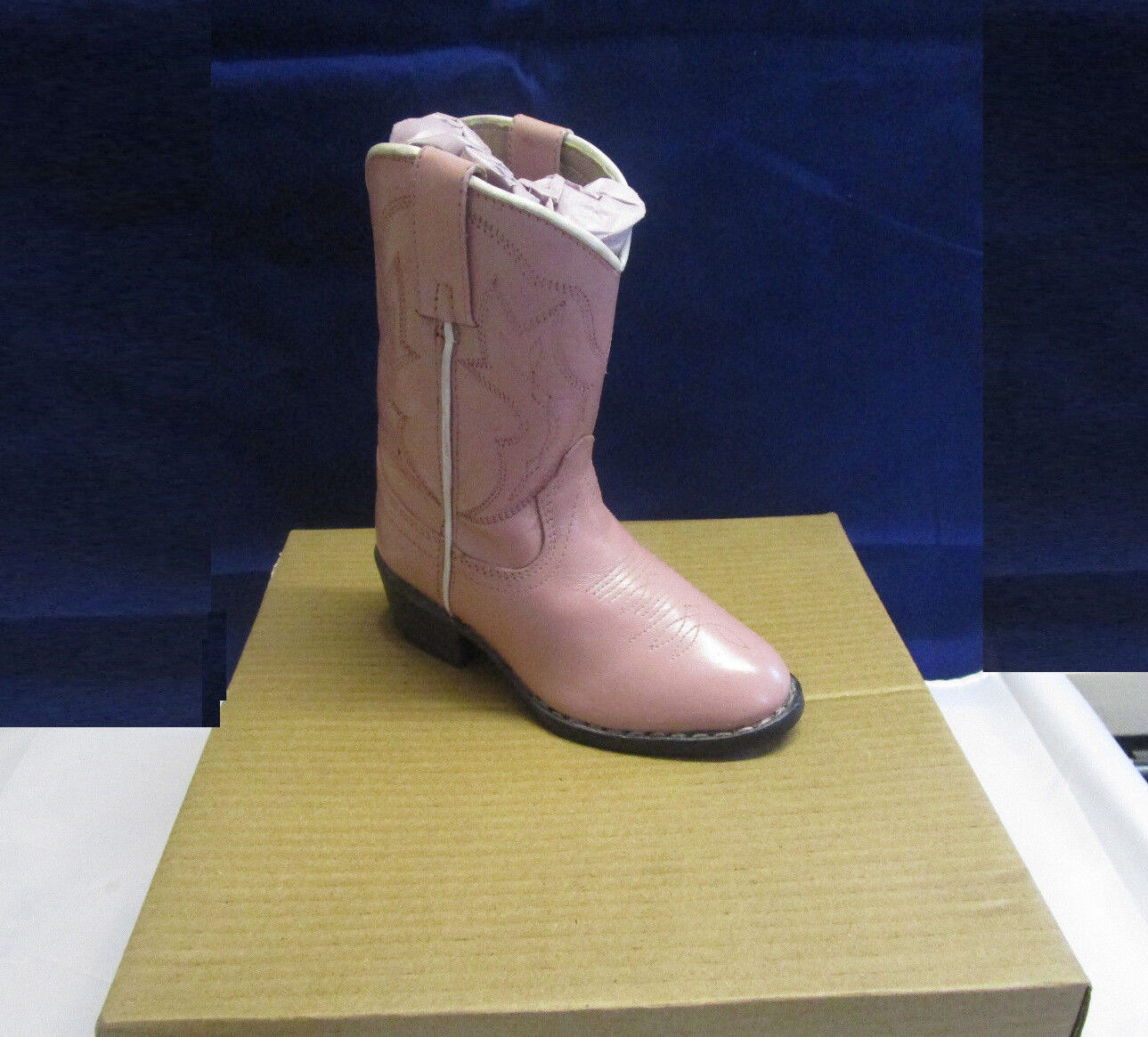 FERRINI LEATHER WESTERN COWBOY BOOTS PINK LEATHER SIZE FOR KIDS