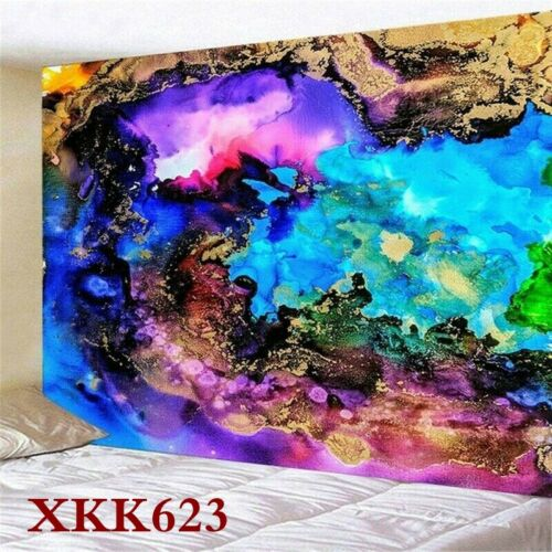 Trippy Colourful Tapestry Wall Hanging Hippie Art Throw Tapestries Home Decor