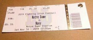 2019-Notre-Dame-Fighting-Irish-vs-Navy-Football-Ticket-Stub-nice