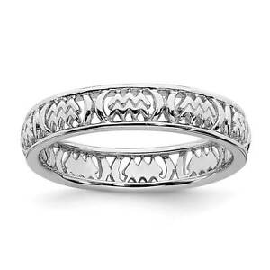 925-Sterling-Silver-Polished-Aquarius-Zodiac-Cut-Out-Stackable-Ring-Sz-5-10