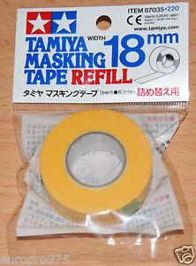 Tamiya-87035-Masking-Tape-Refill-18mm-Width-18m-Length-for-RC-Body-Shells-NIP