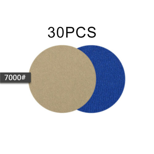 30pcs//set 60-10000 Grit Wet//Dry Sandpaper Disc Hook And Loop Sanding Pads 3in