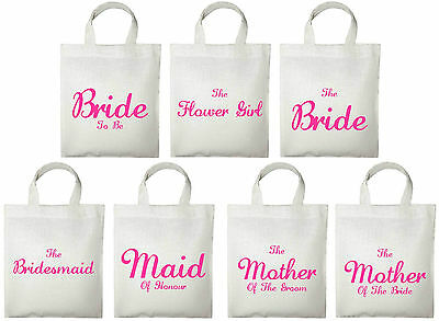 Wedding Favour Small Tote Bags - Printed Gift Present Keepsake Hen Do Party