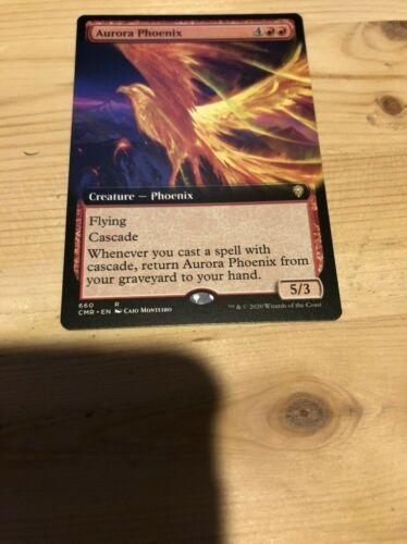 Aurora Phoenix Extended Art x1 Commander Legends Pack Fresh NM//M Ships Now!