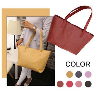 Ladies-Big-Shoulder-Bag-Travel-Bag-Casual-Tote-Purse-Korean-Leather-Handbag