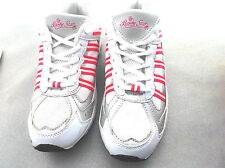 """""""body star""""ladies white trainers size 5d pink edging"""