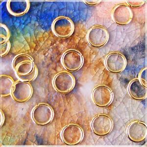 Binderinge silberfarben 6 mm für Ketten Armbänder basteln Federri 50 Spaltringe