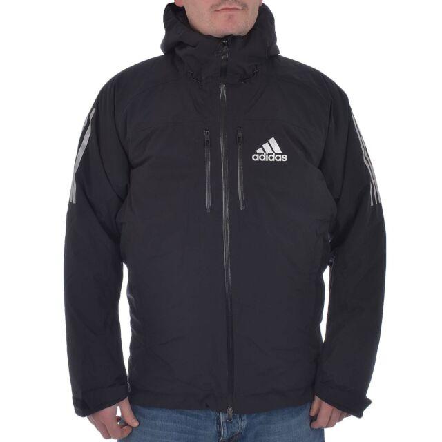 adidas Performance AdiZero Mens Padded Waterproof Hooded Winter Ski Jacket Black