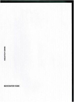 B /& O Bang /& Olufsen Service Manual für Beocenter 3500 Type 2401 Copy d//e