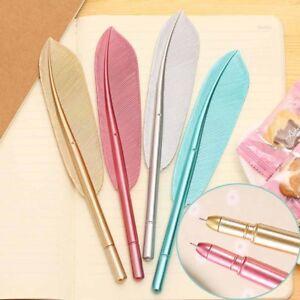 1x Kawaii Feather Gel Pen ~ Novelty Cute Pen Gift Office School Writing Supplies