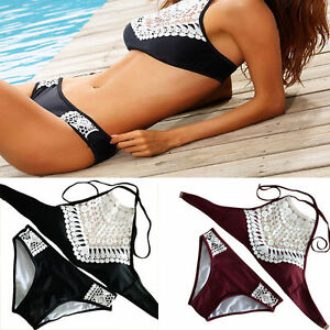Women-Lace-Padded-Bikini-Set-Push-Up-Bra-Summer-Swimwear-Bath-Beach-Wear-Suits