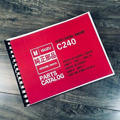 ISUZU C240 DIESEL ENGINE PARTS MANUAL CATALOG BOOK SCHEMATIC EXPLODED VIEWS  | eBayeBay
