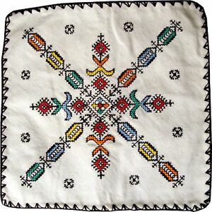 Details About Genuine Moroccan Embroidered Pillow 07 From Fez Great Gift Idea