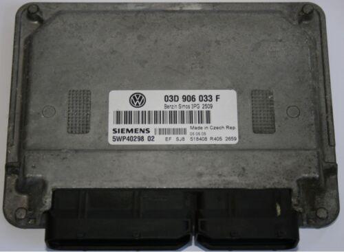 VW Polo 2005 MK6 1.6 6V ENGINE CONTROL UNIT ECU 03D906033F 03D 906 033 F