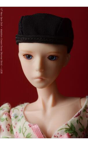 "/"" Dollfie Plus Wigcap 3-4 Black Dollmore OOAK DIY 12/"" fashion wigcap"