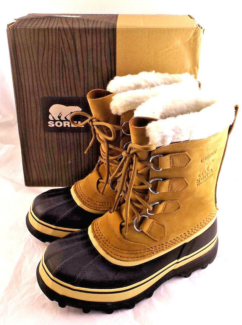 NIB SOREL Caribou Buff Size 10 M Winter Donna's Snow Stivali RETAIL  150
