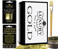 Gold Leaf Kit - 100 Gold sheets 10ml Adhesive and Brush. Gilding, Art, Design