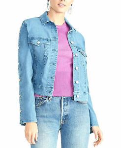 Rachel Rachel Roy Women's Jacket Blue Size Large L Denim Cropped $139 #563