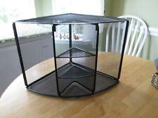 Desk Storage Corner Shelf Unit Black Metal Mesh Wire Brenton Studio Abt 13x13x13