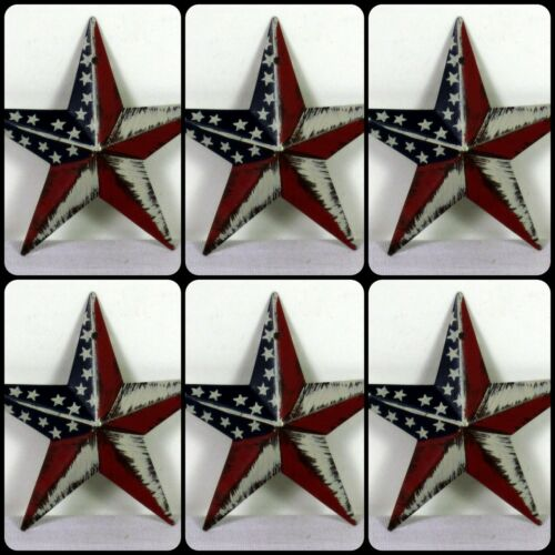 Barn Star Christmas OrnamentsAmericana3.5 inch SET of 6 FREE SHIPPING