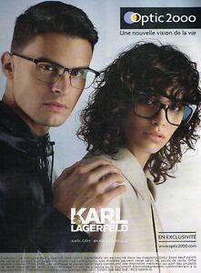 2517bcd2940d55 B- Publicité Advertising 2017 Les Lunettes de Soleil Karl Lagerfeld ...