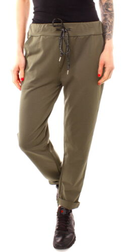 Femmes Jersey Pantalon Jogging Survêtement Jogger Pants Kaki Vert 34 36 38