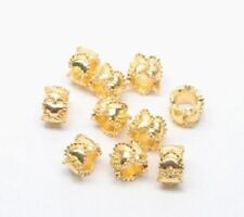 European style Gold heart spacer beads for charm bracelets - wholesale lot 10