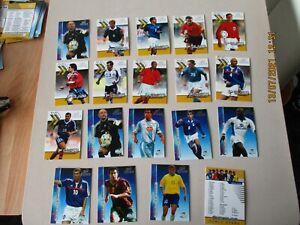 19 Futera Platinum World Stars 2001 Cards Bulk Lot , 18 different & 1 mis-print