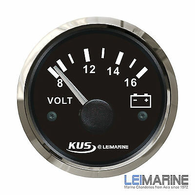 KUS Stainless Steel Bezel Boat Voltmeter 8-16V  Marine Yacht New In Stock