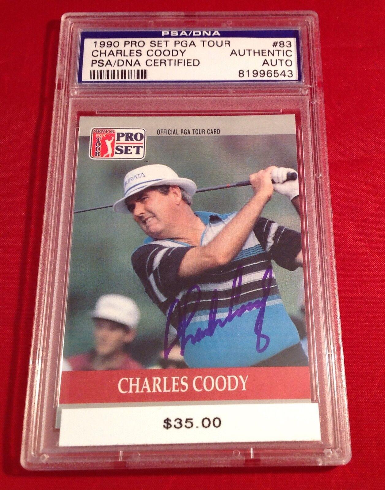 Charles Coody Signed 1990 Pro Set Card Slabbed PSA/DNA #81996543
