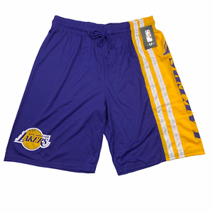NBA-Mens-Los-Angeles-Lakers-Basketball-Shorts-Purple-Yellow-Size-Large-VSM8488S