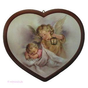 Details Zu Bild Herz Hl Schutzengel Und Kind Baby Mit Engel Geschenk Zur Taufe Geburt