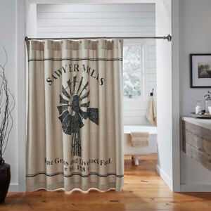 Sawyer-Mill-Charcoal-Windmill-Bathroom-Shower-Curtain-by-VHC-Brands