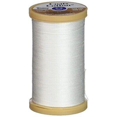 350-yard 350yd Black Coats Thread /& Zippers Machine Quilting Cotton Thread