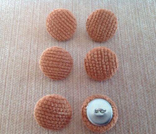 Rouille Chenille 30L//19mm ameublement tissu boutons recouverts