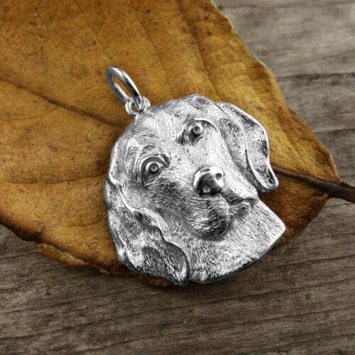Sterling Silver BEAGLE DOG Pendant// Charm RARE