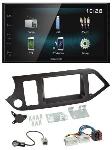 KENWOOD AUX IN Bluetooth USB mp3 2din Autoradio Pour Kia PICANTO dès 11 sans Start-ST