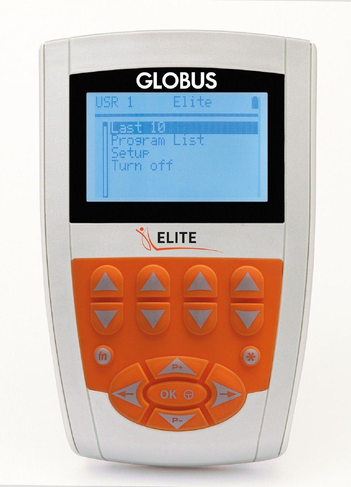 Globus ELITE Elektrostimulator Sport Fitness Ästhetik Tens Rehab 98 PROG