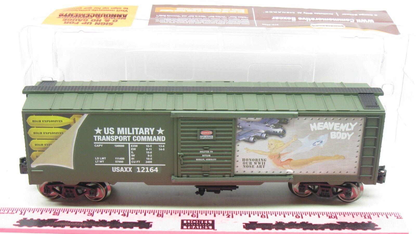 Menards  O Gauge Heavenly Body Commemorative Military Boxcar