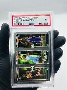 2003-04-Topps-Rookie-Matrix-Dwyane-Wade-Carmelo-Anthony-Chris-Bosh-RC-PSA-7