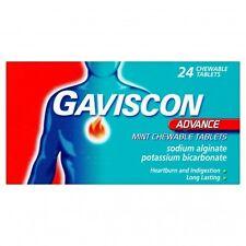 GAVISCON ADVANCE MINT 24 CHEWABLE TABLETS *