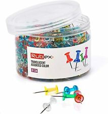 Push Pins Colorful Translucent Push Pins Assorted Plastic Head Thumb Tacks 600