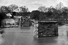 New 5x7 Civil War Photo: Richmond & Danville Railroad Bridge in Ruins, Virginia
