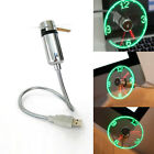 Mini Home Office Flexible Gooseneck Cooling USB LED Clock Fan For PC Notebook