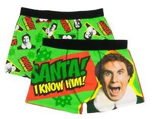 Mens Christmas Trunks Two Pack ELF The Movie Ideal Secret Santa Gift