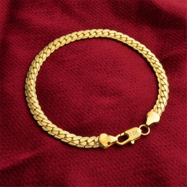 Jewelry Fashion 18k Gold Bracelet For Men Women S01