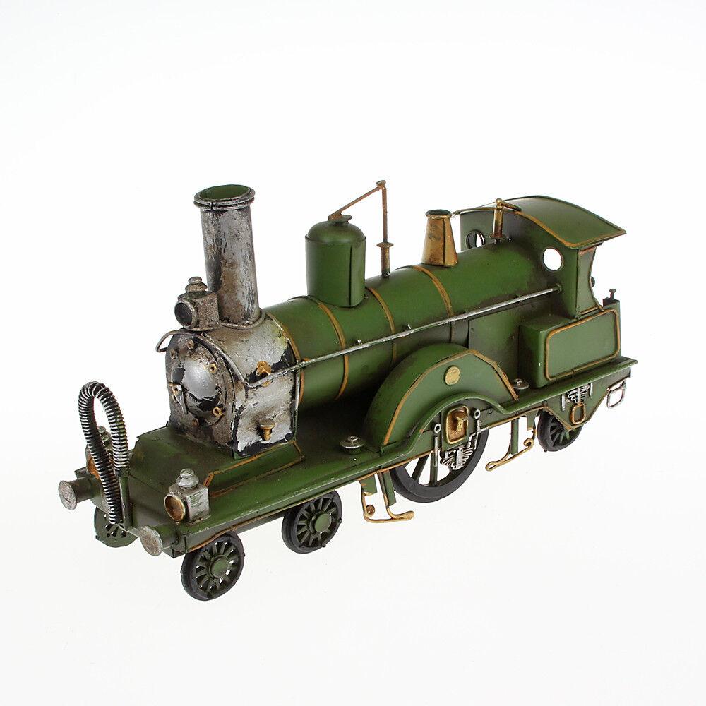 Blechmodell Historische Lokomotive grün handgefertigtes Unikat