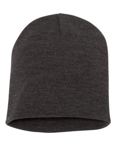 "20 Yupoong Knit Cap 8.5/"" Short Beanie Hat 1500KC Hypoallergenic"